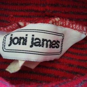 Vintage Sweaters - Vintage Joni James striped Turtleneck Sweater